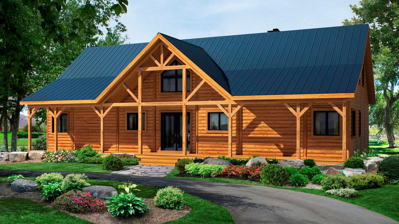 Строительство домов из оцилиндрованного бревна под ключ недорого
