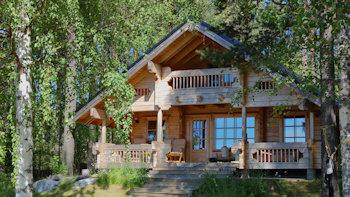Дома из профилированного бруса недорого